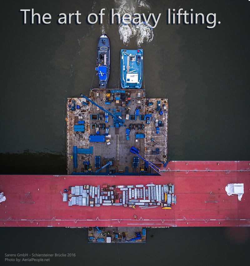 Die Kunst des Schwertransports.